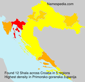 Surname Shala in Croatia