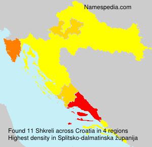 Familiennamen Shkreli - Croatia
