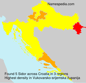 Surname Sidor in Croatia
