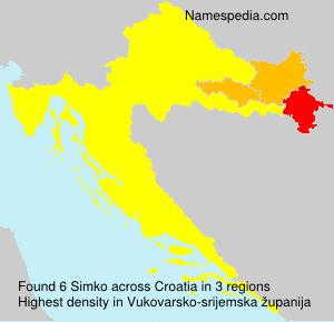Familiennamen Simko - Croatia