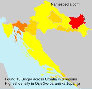 Surname Singer in Croatia
