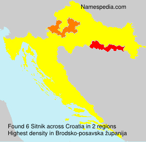Surname Sitnik in Croatia