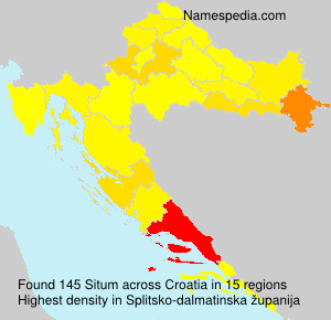 Surname Situm in Croatia