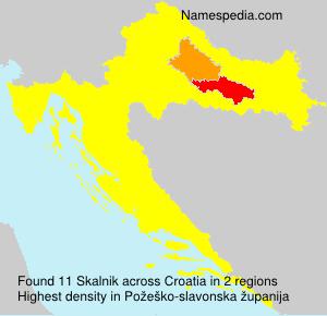 Surname Skalnik in Croatia
