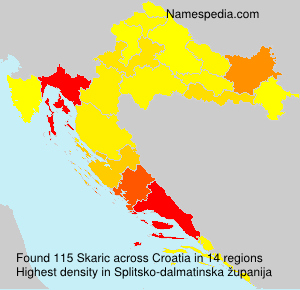 Surname Skaric in Croatia