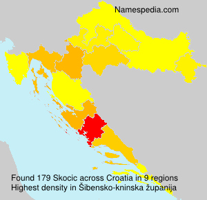 Surname Skocic in Croatia