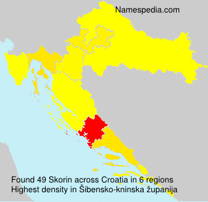 Surname Skorin in Croatia