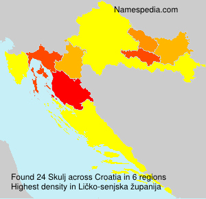 Surname Skulj in Croatia