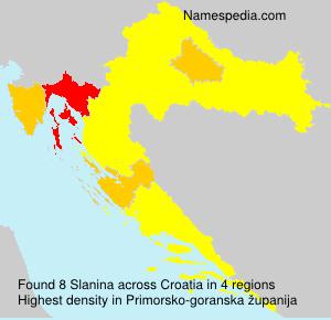 Surname Slanina in Croatia