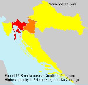 Surname Smajila in Croatia