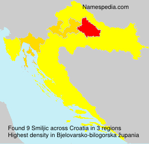 Surname Smiljic in Croatia