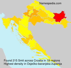 Surname Smit in Croatia
