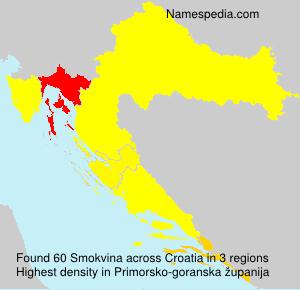 Surname Smokvina in Croatia
