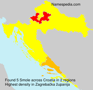 Surname Smole in Croatia