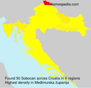 Surname Sobocan in Croatia