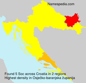 Surname Soc in Croatia