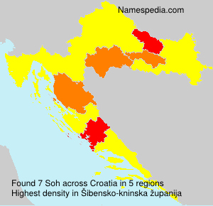 Surname Soh in Croatia