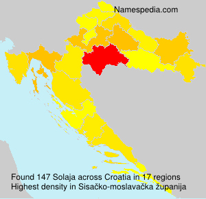 Surname Solaja in Croatia