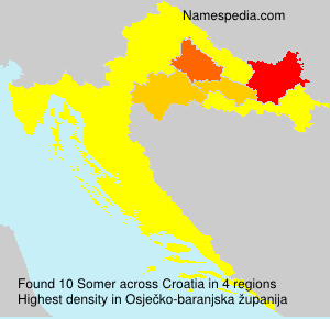 Surname Somer in Croatia