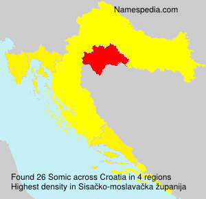 Surname Somic in Croatia