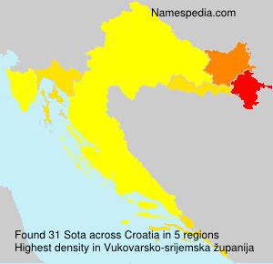 Familiennamen Sota - Croatia