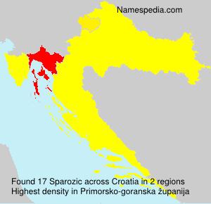 Surname Sparozic in Croatia