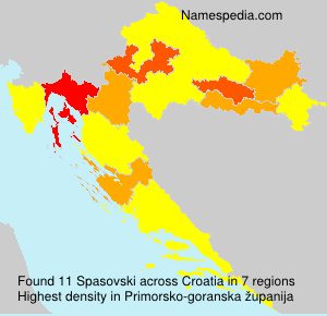 Surname Spasovski in Croatia