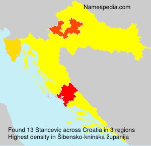 Familiennamen Stancevic - Croatia