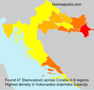 Surname Stanivukovic in Croatia