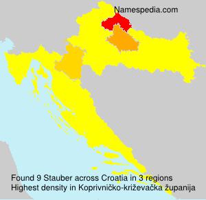 Surname Stauber in Croatia