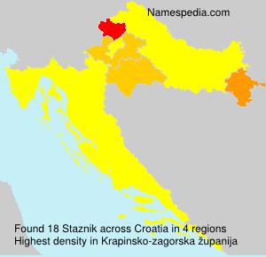 Familiennamen Staznik - Croatia