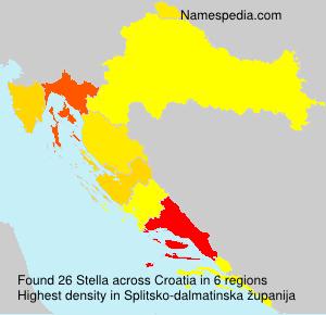 Surname Stella in Croatia