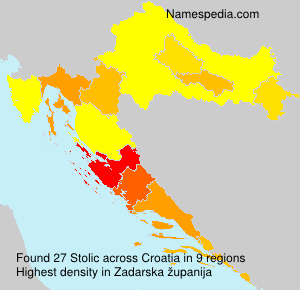 Surname Stolic in Croatia