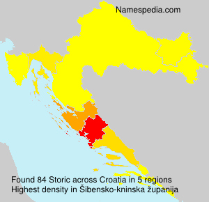 Surname Storic in Croatia
