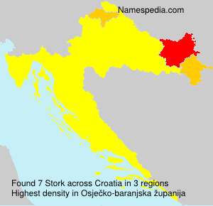 Surname Stork in Croatia