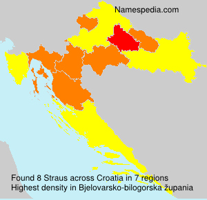 Familiennamen Straus - Croatia