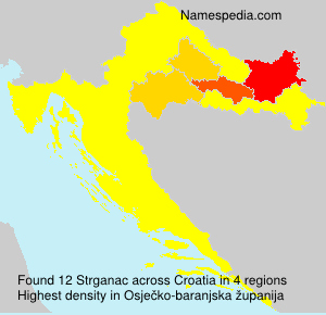 Surname Strganac in Croatia