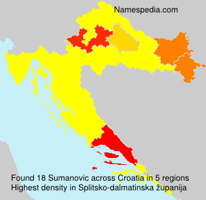 Surname Sumanovic in Croatia