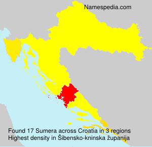 Surname Sumera in Croatia