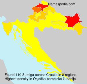 Surname Sumiga in Croatia