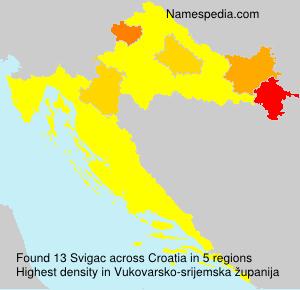 Familiennamen Svigac - Croatia