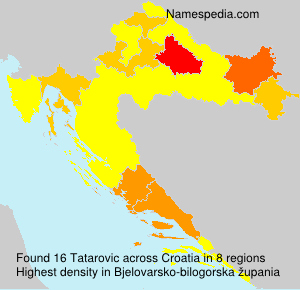 Surname Tatarovic in Croatia