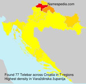 Familiennamen Telebar - Croatia