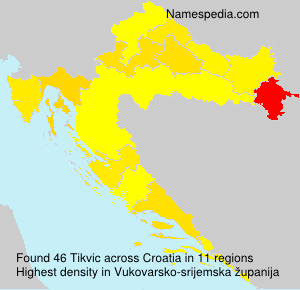 Familiennamen Tikvic - Croatia