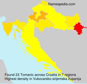 Familiennamen Tomanic - Croatia