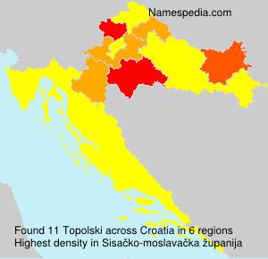 Familiennamen Topolski - Croatia