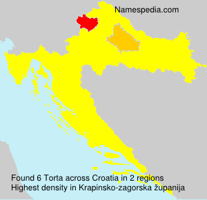 Surname Torta in Croatia