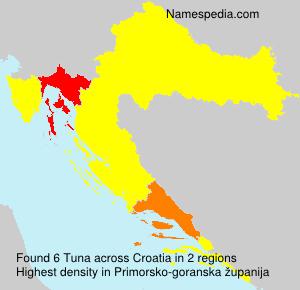 Familiennamen Tuna - Croatia