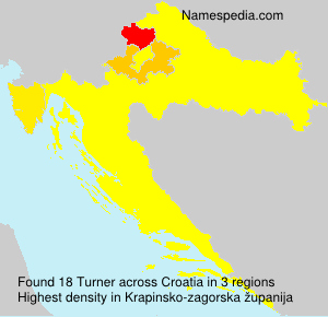 Surname Turner in Croatia