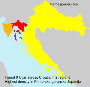 Familiennamen Uljar - Croatia